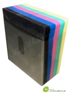 100 Non Woven Cd Dvd Multi Color Double Sided Plastic Sleeve Hold 200 Discs