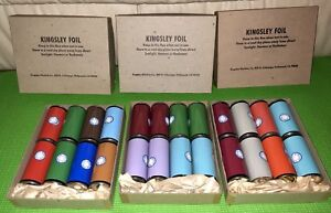 Kingsley Hot Stamping Machine Misc Colors Of New Foil 24 Rolls Of 3 Foil