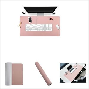 Pu Leather Desk Mat Blotters Organizer Desk Pad Protecter With Writing Surface