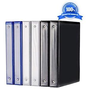 Binder 1 Inch Binders 3 Ring Durable View Assorted Color 6pcs pack