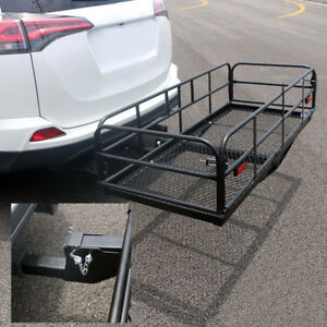 60 Folding Cargo Carrier Car Luggage Rack Basket Hauler Truck Or Car Hitch