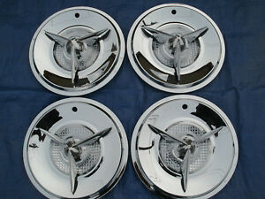 Reproduction 15 Viking 3 Bar Spinner Hubcaps 1 4 Bar Set