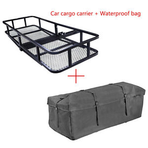 60 x20 folding Truck Car Racks Cargo Carrier Basket Luggage Hitch Mounted W Bag
