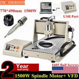 Usb 1 5kw Vfd Cnc 6040 Router Engraver 3 Axis Engraving Metal Wood Mill Machine