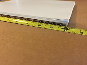 Lot Of 100 White Styrene Polystyrene Translucent Plastic Sheet 010 X 12 X 12