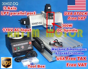 usa Ship 3 Axis 300w 3040z dq Desktop Cnc Router Engraving Milling Machine 110v