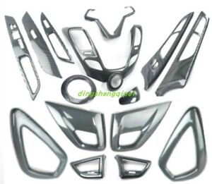 Carbon Fiber Style Car Interior Kit Cover Trim For Hyundai Veloster 2011 2016