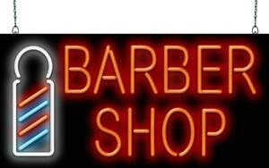 Barber Shop With Pole Neon Sign Jantec 2 Sizes Shave Hair Cut