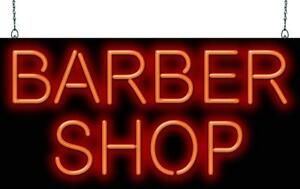 Barber Shop Neon Sign Jantec 2 Sizes Hair Cut Shave Real Neon