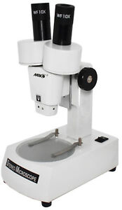 All Metal 20x 30x Dissecting Stereo Microscope For Students Light Base