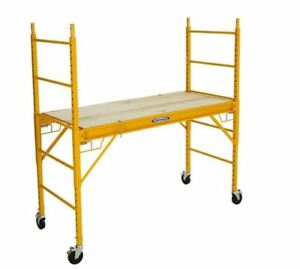 Werner 6 Ft Scaffolding Rolling Capacity Scaffold Platform Drywall Painting Cart