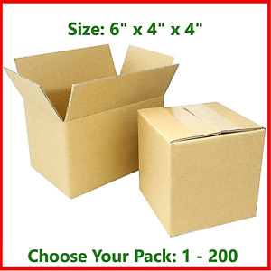 6x4x4 Cardboard Packing Mailing Gift Moving Shipping Boxes Corrugated Box Carton