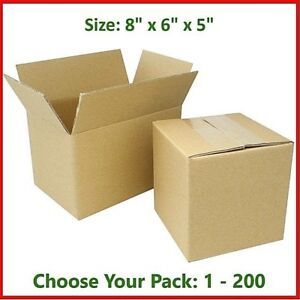 8x6x5 Cardboard Packing Mailing Gift Moving Shipping Boxes Corrugated Box Carton