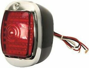 Led Tail Lamp Assembly Black Lh 1940 1941 1942 1943 1944 1945 1946 Chevy Truck