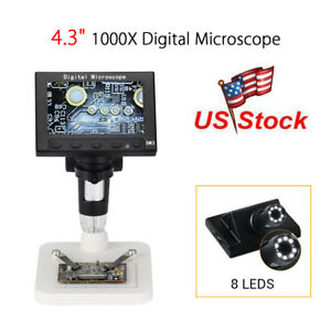 Us Professional Hd Dm3 1000x Zoom Digital Microscope Endoscope Magnifier Camera
