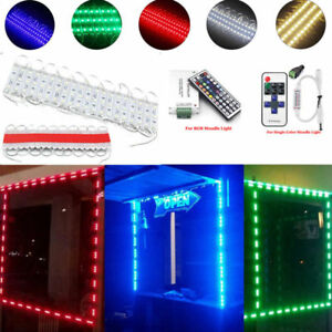 US 10FT~500FT 5050 SMD 3 LED Module STORE FRONT Window Sign Strip Light + Remote
