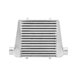 Cxracing Universal Front Mount Tube Fin 18x12x3 Intercooler 3 Inlet Outlet