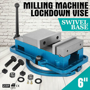 6 Inch Vise Precision Milling Drilling Machine Clamp Vice Fixed Base New
