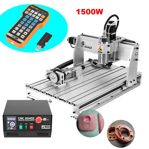 6040z 4 Axis Usb Mach3 1500w Cnc Router Engraver 3d Cutter Engraving Milling