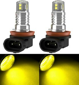 Led 30w H11 Yellow 3000k Two Bulbs Fog Light Replacement Show Use Lamp Off Road