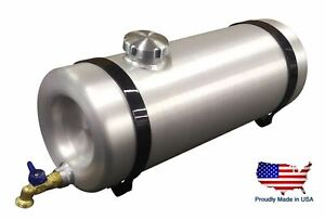 10 Gallon Round Aluminum Water Storage Tank Dog Box Stock Trailer Camping