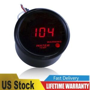 Car Motor 2 52mm Red Digital Led Fahrenheit Water Temp Gauge Automotive