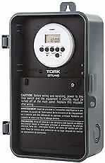 Tork Digital Water Heater Time Switch Single Pole 120 Volt 40 Amp