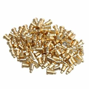 100x Gold Plating Copper D2xh3 5mm Spring Thimble Pogo Pins Probes Connector