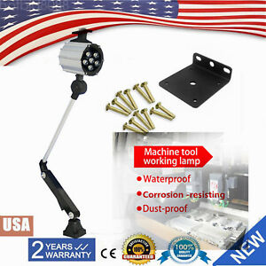 24v 8w Adjustable Led Worklight Fr Cnc Bench Milling Machine Lathe Grinder 6000k