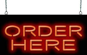 Order Here Neon Sign Jantec 3 Sizes Restaurant Cafe Diner Fast Food