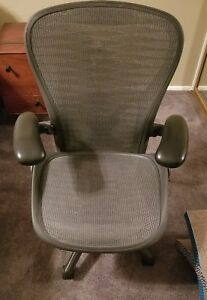 Herman Miller Aeron Mesh Office Chair Large Size C Fully Adjustable Posture Fit