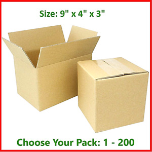 9x4x3 Cardboard Packing Mailing Gift Moving Shipping Boxes Corrugated Box Carton
