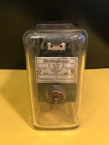 Vintage Square Glass Westinghouse Voltage Relay Meter Type Sv A Must See