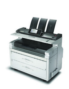 Ricoh Mpw6700 Wide Format Printer With Scanner 2 Rolls Brand New