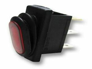 Switch Rectangle Rocker Red Led 3p Spst On off 25a 14vdc 2pack