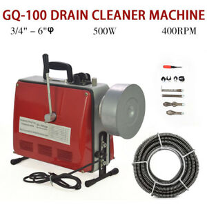3 4 6 Electric Spiral Pipe Drain Cleaning Cleaner Machine Commercial Sewage