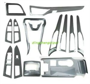 16pcs Carbon Fiber Style Car Interior Kit Cover Trim For Ford Fusion Mondeo 2017