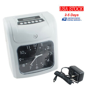 Time Clock Employee Machine Electronic Recorder Analogue Time Recorder Usa Ship