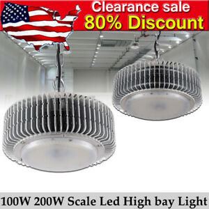 100w 200w 300w Led High Bay Light Commercial Warehouse Factory Led Shop Lights