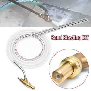 Pressure Washer Sand Blaster Blasting Kit Turbo Power Nozzle 1 4 Quick Connect