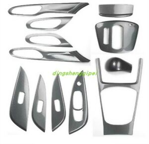 12pcs Carbon Fiber Style Car Interior Kit Cover Trim For Nissan Tiida 2011 2015