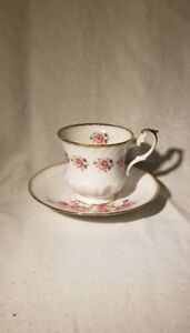 Queen S Rosina Fine Bone China Centenary Year Tea Cup Saucer Made In England