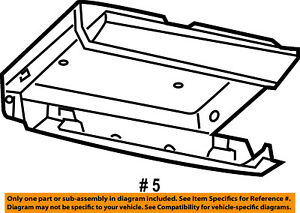 Chrysler Oem Overhead Roof Console Storage Compart 1kl94dx9ab