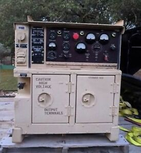 Military Onan Mep 802a 5kw Diesel Generator 60hz 120v 240v 208v Great Condition