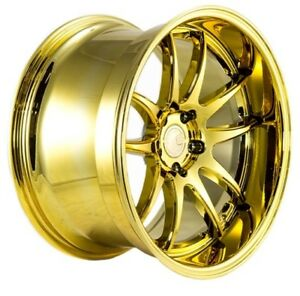 Aodhan Ds02 18x9 5 10 5 5x114 3 Et15 Gold Vacuum Staggered Wheel Set