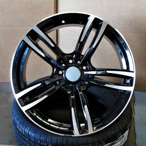 Bmw M4 Style 19x8 5 9 5 5x120 35 37 Gloss Black Mf Wheels Set Of 4