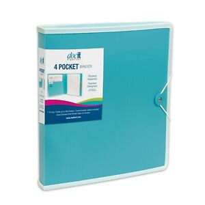 Docit 4 Pocket Binder Available In 4 Colors