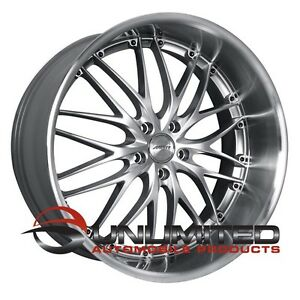 Mrr Gt1 22x9 10 5 Et35 40 5x114 3 Hyper Silver Wheels Fit Ford Mustang 2005