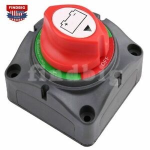 Dual Battery Selector Switch Disconnect For Marine Boat Rv Vehicles 1 2 Both Off