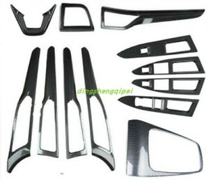 Carbon Fiber Style Car Interior Kit Cover Trim For Ford Fusion Mondeo 2013 2017